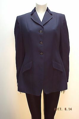 """Made in England, Navy Equestrian Jacket, Size 38"""" (UK 12)"""