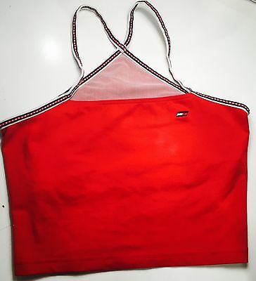 Tommy Hilfiger Ladies Red Strappy Sports Top Size L (UK 10-12)