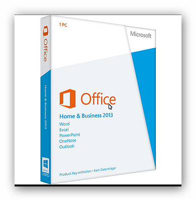 Microsoft Office 2013 Home and Business Vollversion 32/64 bit 1 PC