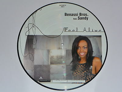 "Picture Vinyl Benassi Bros.feat SANDY "" Feel Alive "" Neu"