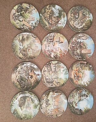 Coalport The Tale Of A Country Village Full Set Of 12 Plates Robert Hersey