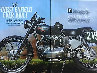 ROYAL ENFIELD 500cc ISDT 1953 - ORIGINAL 6 PAGE MOTORCYCLE ARTICLE