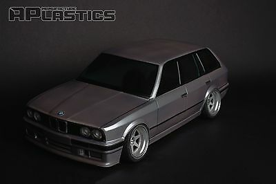 NEW Unpainted APlastics RC Drift car body 1:10 BMW E30 touring style