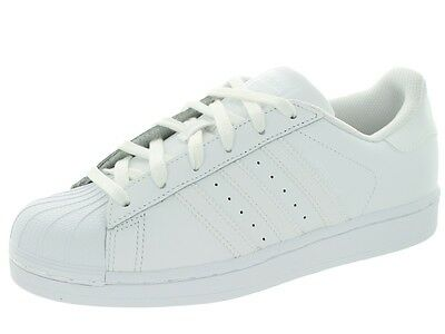 Scarpe Adidas Superstar Bianco S85139 Nuovo Uomo Donna Pelle Sportive Sneakers
