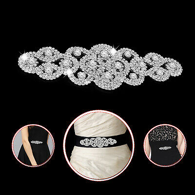 Diamante Applique Motif Crystal Patch Sew on Bridal Dress Embellishments 96