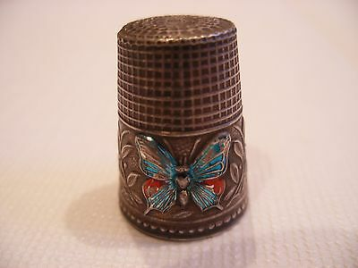 Butterfly Thimble Sterling Silver 925 Hallmarked Vintage Style Handmade ?