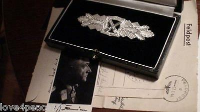 WWII WW2 Veteran WH Officer Army German Silver Close Combat Clasp Badge Deschler