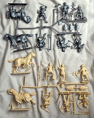 italeri 1/32 100 year war medieval french and english sets plastic soldiers