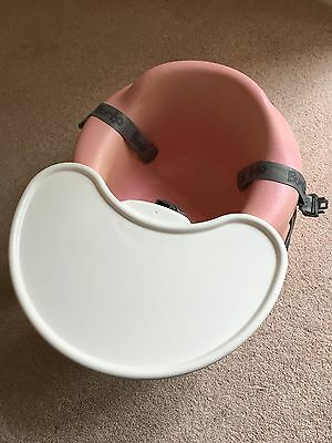 Bumbo Pink  Child's Seat with Straps and Tray