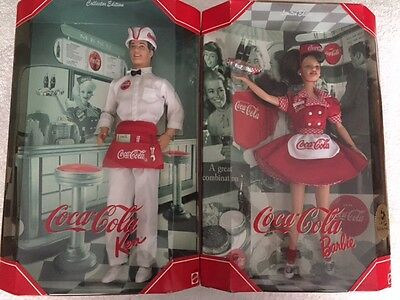 Coca Cola Ken and Brunette Waitress Barbie (Limited Edition)