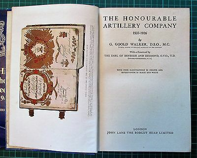 Ww1 Book Honourable Artillery Coy 1537-1926