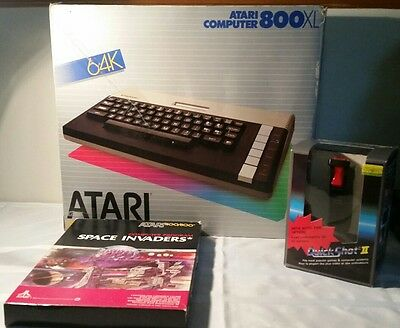 Atari-800XL Home Computer System Original Box Rare Game Console With Boxed Game