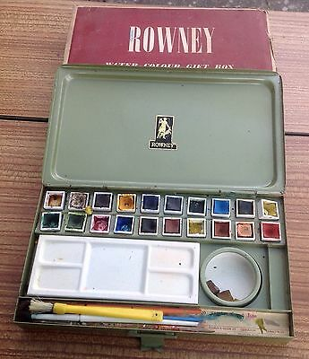 Vintage Metal Rowney Vintage Watercolour Paint Box Gift Box No.82 With Sleeve