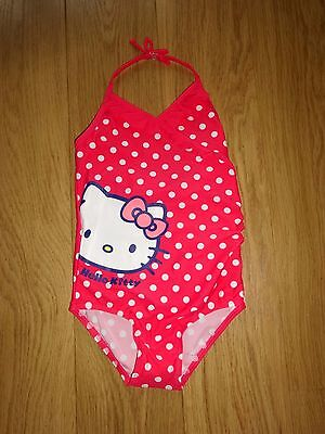New - Marks & Spencer Pink Mix Hello Kitty Swimming Costume Age 2-3 Years
