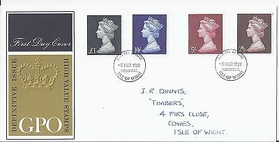 1969 GB Royal Mail High Value Definitives First Day Cover FDC - Very Clean(1756)