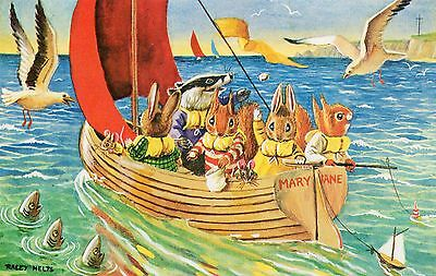 Racey Helps A Sail Around The Bay Badger Squirrels Mouse Rabbits Animal Fantasy
