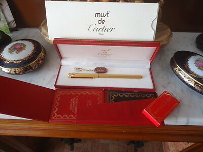 Must de Cartier, grain d'orge 18k. three golds NOS