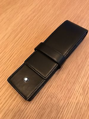 Genuine Mont Blanc 2 Pen Case Pouch RRP£120
