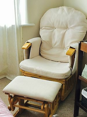 glider reclining chair and stool