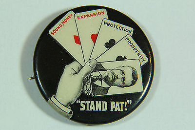 Theodore Teddy Roosevelt Stand Pat Political Button Pinback