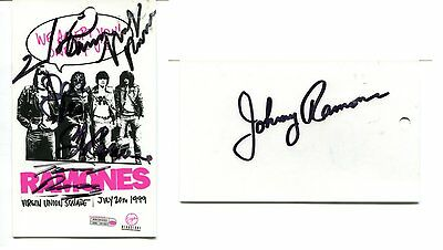 THE RAMONES autograph HAND SIGNED  BY ALL 6  SB1755