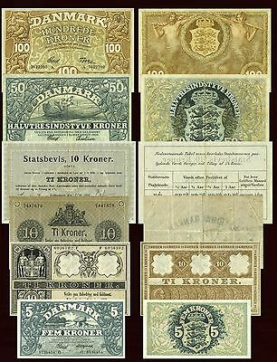 Reproduction Denmark National Bank Currency 17 Piece Look Reproduction
