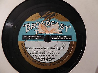 9 x BROADCAST 12 label 78s. All pictured. Ex - to EX  (1)