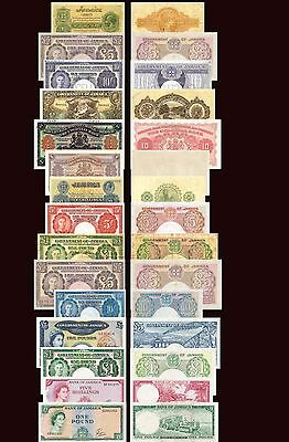 Reproduction Government Of Jamaica Pound Lots 15 Piece Look Reproduction