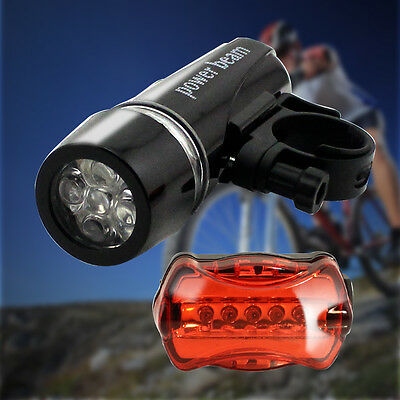 LED Mountain Bicycle Light Set  Front & Rear Light  Waterproof