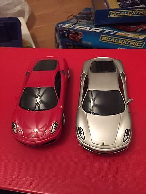 Pair Scalextric High Impact Ferrari Sports Cars