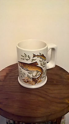 Collectable vintage Arthur Wood mug fishing