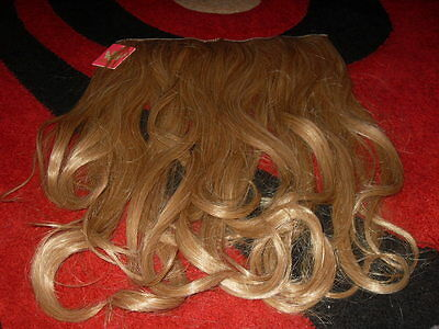 Honey Blond Curly clip in hair extension   New
