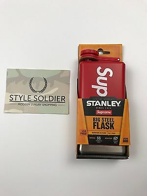Supreme / Stanley Adventure Flask Red Authentic SS17