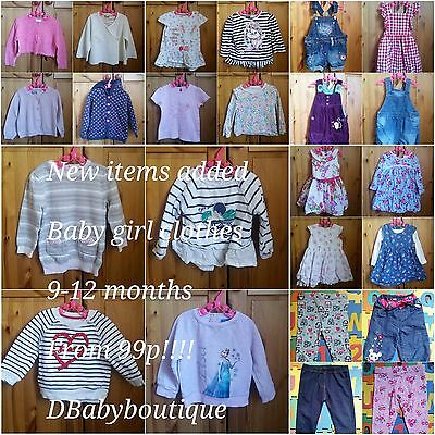 Multi listing baby girl clothes 9-12 months. Make your own bundle!