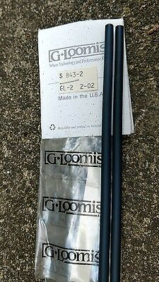 Vintage G-Loomis GL-2 S 843-2B Graphite fishing Rod Blank New USA dark blue bass