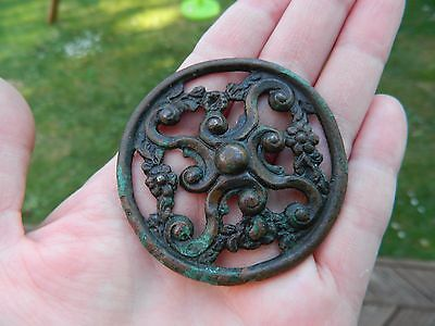 post medieval mount  tudor rose lovely detail metal detecting detector