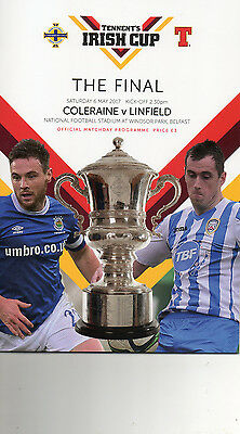 2017 IRISH CUP FINAL PROGRAMME LINFIELD v COLERAINE WITH TEAMSHEET
