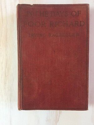 In The Days Of Poor Richard By Irving Bacheller 1922