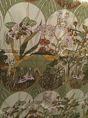 Vintage Cotton Interiors Fabric Bardfield Moygashel Art Nouveau Inspired 2yds