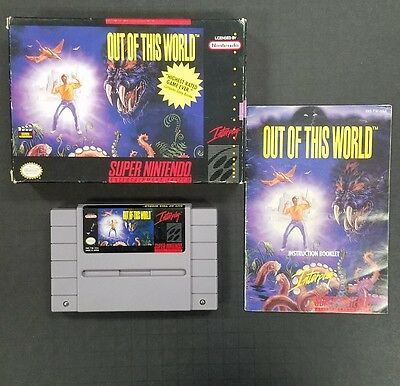 Out of this World - SNES.  Complete in box.  CIB