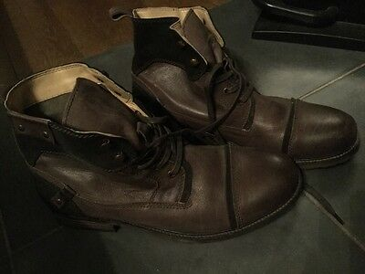 Bottines cuir marron Homme Taille 44