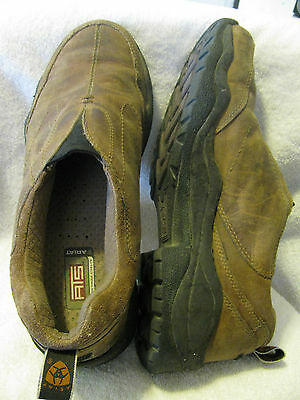 Ariat Men's 9.5D Brown Leather Casual Slip On Shoes ATS Technology Distressed