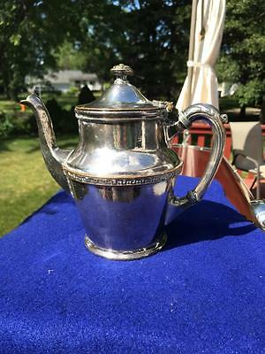 Antique ORRINGTON HOTEL Evanston Silver Soldered PITCHER COFFEE POT Advertising