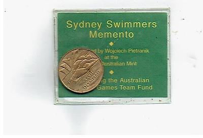 Sydney Olympics Games 2000 Swimming Swimmers Momento