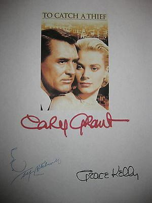 To Catch a Thief Signed Film Script Alfred Hitchcock Cary Grant Grace Kelly rpnt