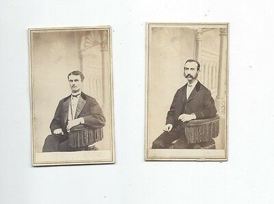 2 Cdv, D.a. Simmons, Photographer, Manchester, N.h. Usa, Moustache
