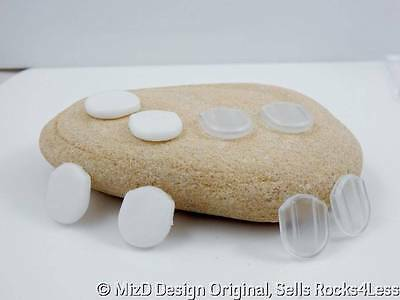 Comfort Pads for Clip Earrings - White and Clear