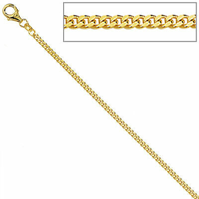 Panzerkette 333 Gelbgold diamantiert 1,7 mm 36 cm Gold Kette Halskette Goldkette
