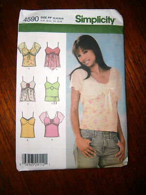 Oop Simplicity 4590 Knit Camisole summer top sizes 12-18 NEW