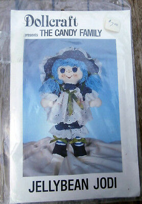 Vintage Dollcraft The Candy Family Jellybean Jodi doll pattern NEW